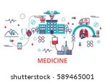 health care concept in modern... | Shutterstock .eps vector #589465001