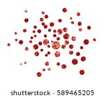 red glitter confetti isolated... | Shutterstock . vector #589465205