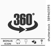 360 degree icon flat. simple... | Shutterstock . vector #589465595