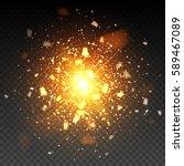 golden firework glitter... | Shutterstock .eps vector #589467089