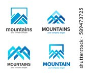 Vector Mountains Logo Design