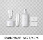 premium quality cosmetics mock... | Shutterstock .eps vector #589476275