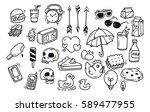 set of cute random doodle | Shutterstock . vector #589477955
