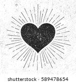 heart symbol with sunburst on... | Shutterstock . vector #589478654