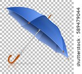 high detailed blue umbrella on... | Shutterstock .eps vector #589479044