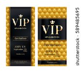 vip party premium invitation... | Shutterstock .eps vector #589485695