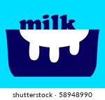 milk and a pot | Shutterstock .eps vector #58948990