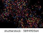 colorful explosion of confetti. ... | Shutterstock . vector #589490564