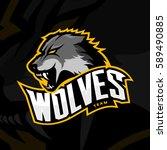 furious wolf sport vector logo... | Shutterstock .eps vector #589490885