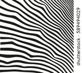 black and white striped lines.... | Shutterstock .eps vector #589494029