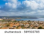 hiking in the beautiful maltese ... | Shutterstock . vector #589503785