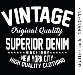 new york city superior denim ... | Shutterstock .eps vector #589507157