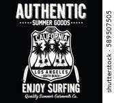 california authentic summer... | Shutterstock .eps vector #589507505