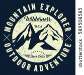 mountain explorer  outdoor... | Shutterstock .eps vector #589508585