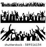 crowd at concert   | Shutterstock .eps vector #589516154