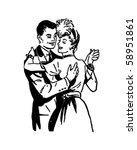 ballroom dancers 3   retro clip ... | Shutterstock .eps vector #58951861