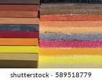 pastel crayons and their marks...   Shutterstock . vector #589518779