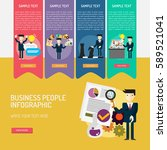 infographic business people | Shutterstock .eps vector #589521041
