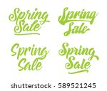spring sale. usable for banners ... | Shutterstock .eps vector #589521245