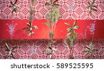 plants background 3d... | Shutterstock . vector #589525595