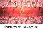 palms background 3d... | Shutterstock . vector #589525601