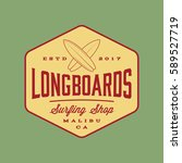 surfing logo. vintage outdoor... | Shutterstock .eps vector #589527719
