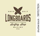 surfing logo. vintage outdoor... | Shutterstock .eps vector #589527824
