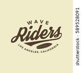 surfing logo. vintage outdoor... | Shutterstock .eps vector #589528091
