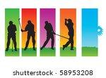 golf sequences | Shutterstock .eps vector #58953208