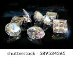all shapes and cuts of diamonds ... | Shutterstock . vector #589534265