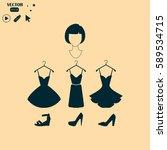 vector illustration of dress... | Shutterstock .eps vector #589534715