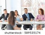 job interview concept. human... | Shutterstock . vector #589535174