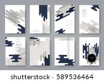set of templates a4 pages.... | Shutterstock .eps vector #589536464