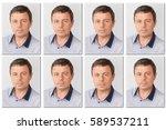Stock photo passport photos of a handsome man 589537211