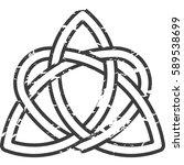 monochrome celtic pattern.... | Shutterstock .eps vector #589538699