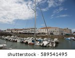 a port on the island of r  in... | Shutterstock . vector #589541495