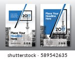 blue color scheme with city... | Shutterstock .eps vector #589542635