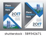 blue color scheme with city...   Shutterstock .eps vector #589542671