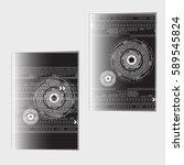 abstract geometric brochure... | Shutterstock .eps vector #589545824