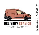 delivery service logo template. ... | Shutterstock .eps vector #589547969