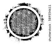 black tire track silhouettes... | Shutterstock .eps vector #589554611