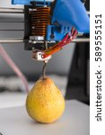 3d printing ripe juicy pear ... | Shutterstock . vector #589555151