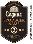 black label for cognac in frame ...   Shutterstock .eps vector #589559531