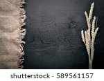 Rye  Wheat Wooden On Black...