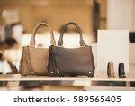 luxury handbags in a boutique... | Shutterstock . vector #589565405