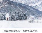 snow in the valley of valbruna. ...   Shutterstock . vector #589566491