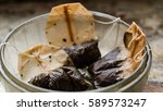used tea bags. background... | Shutterstock . vector #589573247