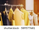 fashionable clothes in a... | Shutterstock . vector #589577681
