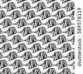 seamless vector vintage pattern ... | Shutterstock .eps vector #589578119