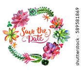 wildflower succulentus flower... | Shutterstock . vector #589581869